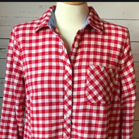 3x Lands End long sleeves Flannel shirt